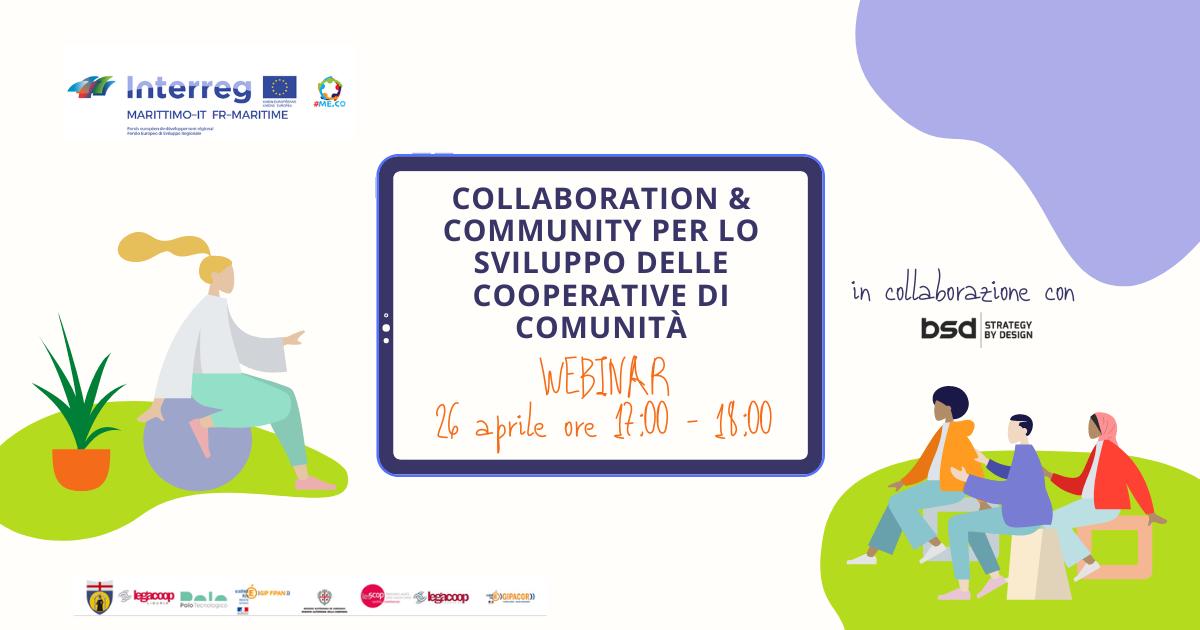 Webinar Sviluppo di cooperative di comunità